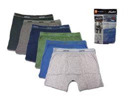 36 Units of Mens Cotton Boxer Briefs Size L - Mens Underwear
