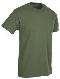 36 Units of Mens Cotton Short Sleeve T Shirts Army Green Size L - Mens T-Shirts