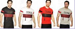 24 Units of MENS FASHION HIGH TREATED COTTON SPANDEX GRAPHIC T SHIRT - Mens T-Shirts