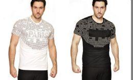24 Units of MENS FASHION HIGH TREATED COTTON SPANDEX GRAPHIC PARIS T SHIRT - Mens T-Shirts