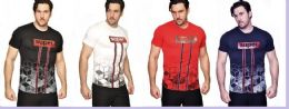 24 Units of MENS FASHION HIGH TREATED COTTON SPANDEX GRAPHIC SUPER T SHIRT - Mens T-Shirts