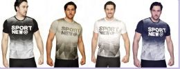24 Units of MENS FASHION HIGH TREATED COTTON SPANDEX GRAPHIC SPORT NEWS T SHIRT - Mens T-Shirts