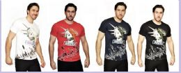 24 Units of MENS FASHION HIGH TREATED COTTON SPANDEX GRAPHIC BRONX T SHIRT - Mens T-Shirts