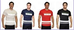 24 Units of MENS FASHION HIGH TREATED COTTON SPANDEX GRAPHIC VERSO T SHIRT - Mens T-Shirts