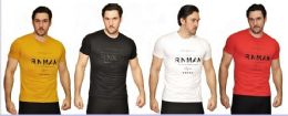 24 Units of MENS FASHION HIGH TREATED COTTON SPANDEX GRAPHIC RNMAN T SHIRT - Mens T-Shirts