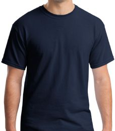 36 Units of Mens Cotton Short Sleeve T Shirts Solid Navy Blue Size Large - Mens T-Shirts