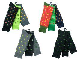 180 Units of Mens Funky Printed Dress Socks, Mixed Patterns - Mens Dress Sock