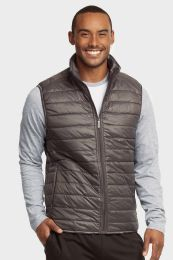 12 Units of MENS LIGHTWEIGHT PUFFER VEST SIZE LARGE - Mens Jackets