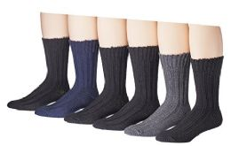 60 Units of Mens Thick Warm Wool Winter Socks - Mens Thermal Sock