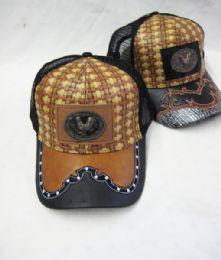 "36 Units of Metallic ""mexicali"" Straw Baseball Cap - Baseball Caps & Snap Backs"