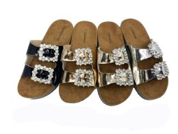 12 Units of Metallic Style Birkenstock Women Sandals In Gold - Women's Sandals
