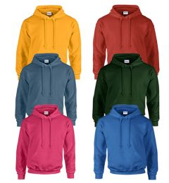 24 Units of MILL GRADED GILDAN IRREGULAR - I12500 HOODED PULLOVER 9.3 OZ SIZE L - Mens Sweat Shirt