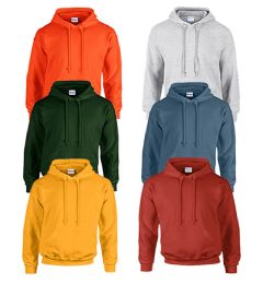 24 Units of MILL GRADED GILDAN IRREGULAR - I18500 HEAVY BLEND 50/50 HOOD 8 OZ SIZE L - Mens Sweat Shirt