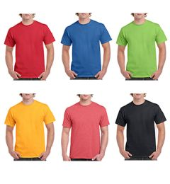 72 Units of Mill Graded Gildan Irregular Adults T Shirts Assorted Colors Size M - Mens T-Shirts
