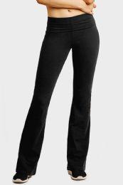 36 Units of Mopas Ladies Yoga Pants In Black Size Medium - Womens Active Wear
