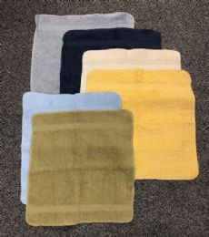 24 Units of Navy Blue Colored Durable Wash Cloth - Bath Towels