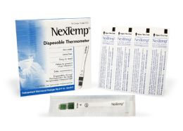2000 Units of NexTemp (Standard) Single-Use Clinical Thermometer Disposable Individually Wrapped Fahrenheit - PPE Thermometer