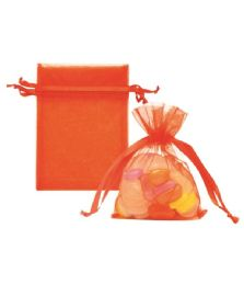 144 Units of Organza Pouches Orang - Party Favors
