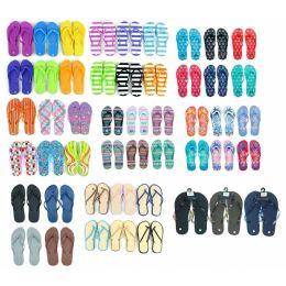 600 Units of Pallet Deal Assorted Men and Woman Flip Flops - Women's Flip Flops