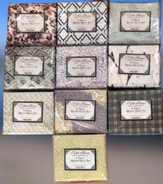 12 Units of Printed Microfiber 4 Pc Sheet Sets Full Size - Bed Sheet Sets