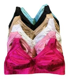 36 Units of Rose Ladys Wireless Mama Bra Assorted Color Size 40C