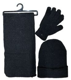 72 Units of SOCKS'NBULK 60 3Piece Set, Hat Glove And Scarf Winter Sets - Winter Sets Scarves , Hats & Gloves