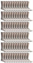 120 Units of Yacht & Smith Women's Premium Cotton Crew Socks White Size 9-11 - Womens Crew Sock