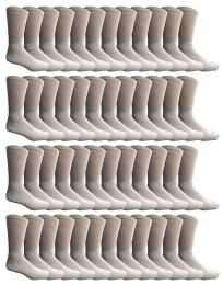 24 Units of Yacht & Smith Kids Premium Cotton Crew Socks White Size 6-8 - Boys Crew Sock