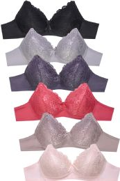 288 Units of SOFRA LADIES FULL CUP LACE NO WIRE BRA - Womens Bras And Bra Sets