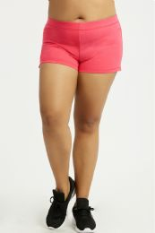 36 Units of SOFRA LADIES SWEATSHORTS EXTRA LARGE SIZE IN HOT PINK - Womens Shorts