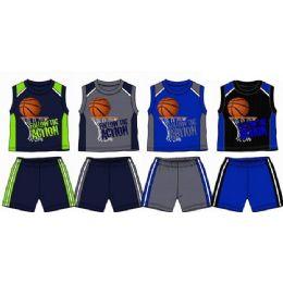 48 Units of Spring Boys Close Mesh Short Sets 8-16 - Boys Shorts