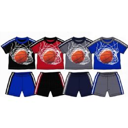 36 Units of Spring Boys Close Mesh Short Sets Size Toddler - Toddler Boys Sets