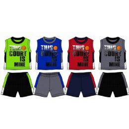 48 Units of Spring Boys Close Mesh Short Sets Size Infant - Newborn Boys Apparel