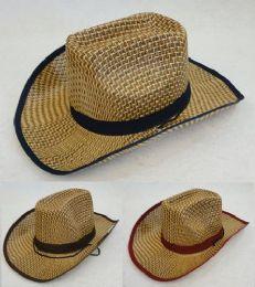 60 Units of Straw Cowboy Hat - Cowboy & Boonie Hat