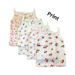 216 Units of Strawberry Girl Infant Spaghetti Strap Singlet 0-9 Months In Pastel - Girls Tank Tops and Tee Shirts