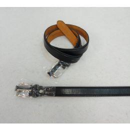 48 Units of Thin Black Belt Large Only - Mens Belts