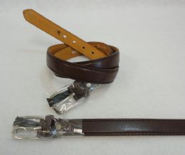 48 Units of Thin Brown Belt XXXLarge Only - Mens Belts