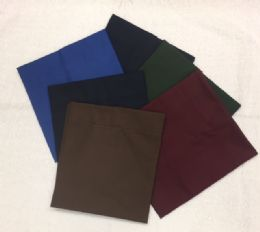 36 Units of Thread Count 180 Percale Pillowcase In Chocolate Standard Size - Pillow Cases