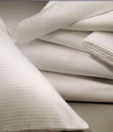72 Units of Tone On Tone White King Size Pillowcase - Pillow Cases