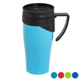 48 Units of Travel Mug 15 Oz. With Twist Lid 4 Assorted Colors - Kitchen Gear