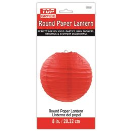 96 Units of Twelve Inch Paper Lantern Red - Hanging Decorations & Cut Out