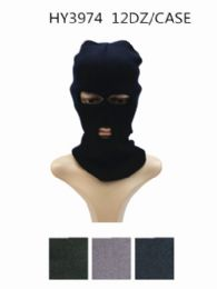 24 Units of Unisex Winter Ski Mask Black Only - Unisex Ski Masks