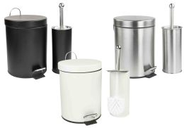 6 Units of Home Basics 2 Piece Bath Set - Soap Dishes & Soap Dispensers