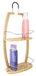 4 Units of Home Basics Bamboo Bath Caddy, Natural - Shower Accessories