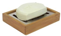 12 Units of Home Basics Bamboo Soap Holder - Bathroom Accessories