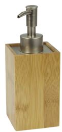 6 Units of Home Basics Bamboo Lotion Dispenser - Bathroom Accessories