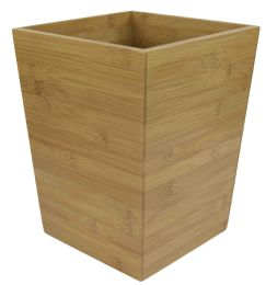 6 Units of Home Basics Bamboo Waste Bin - Bathroom Accessories