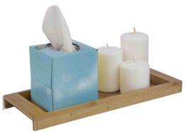 6 Units of Home Basics Bamboo Vanity Tray - Bathroom Accessories