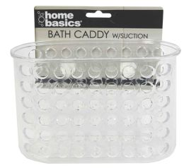 24 Units of Home Basics Large Caddy with Suction Cups - Shower Accessories