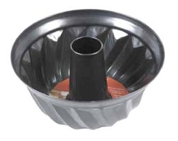 24 Units of Home Basics Non-Stick Fluted Cake Pan - Baking Supplies